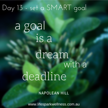 Winter Wellness Challenge Day 13 – Set a SMART goal