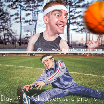 Winter Wellness Challenge Day 19 – Make exercise a priority